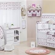 Quarto para Bebê sem Cama Babá Bouquet Uva