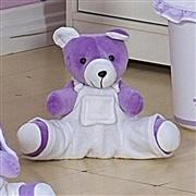 Urso com Macacão Branco Sapeca