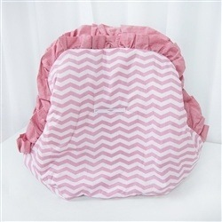 Capa de Bebê Conforto Glamour Chevron Rosê
