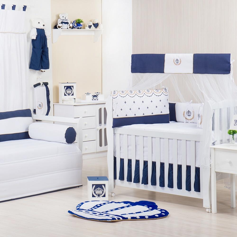 Quarto para Bebê Realeza Marinho Liso
