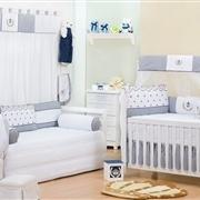 Quarto para Bebê Realeza Marinho Listrado