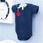 Body Manga Curta Marinheiro Marinho Recém-Nascido a 3 Meses