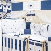 Quarto para Bebê sem Cama Babá Provençal Marinho