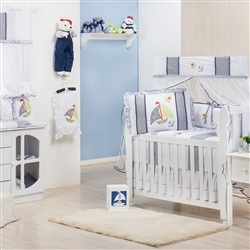 Quarto para Bebê sem Cama Babá Marinheiro