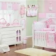Quarto para Bebê sem Cama Babá Provençal Rosa