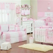 Quarto para Bebê Provençal Rosa