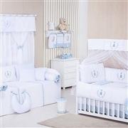 Quarto para Bebê sem Cama Babá Realeza Azul