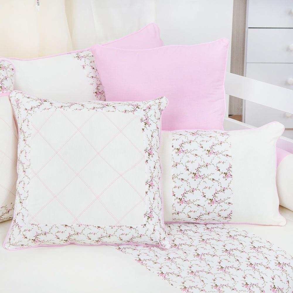 Almofadas Decorativas Nervura Rosa