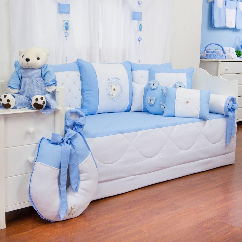 Kit Cama Babá Teddy Azul