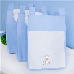 Porta Fraldas Varão Teddy Azul