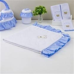 Manta Teddy Azul