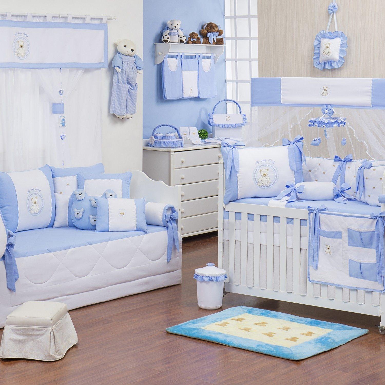 Quarto para Bebê Teddy Azul  Grão de Gente