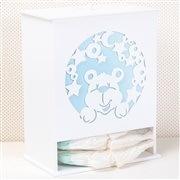 Porta Fraldas Urso dos Sonhos Azul
