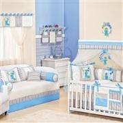 Quarto para Bebê sem Cama Babá Diversão Azul