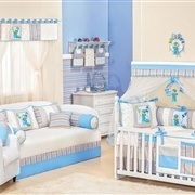 Quarto para Bebê Diversão Azul