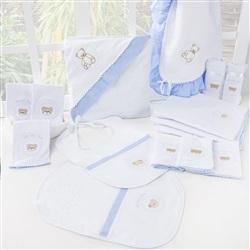 Kit Fraldas e Higiene Teddy Azul