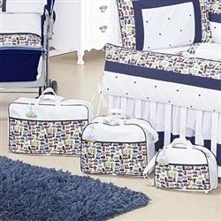 Conjunto de Bolsas Maternidade Cuty Baby Marinho