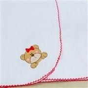 Cueiro de Flanela Ursa Vermelha