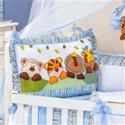 Quarto para Bebê sem Cama Babá Savana Azul