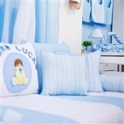 Kit Cama Babá Meu Bebê Nome Personalizado Azul