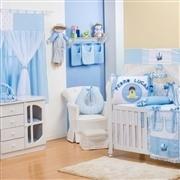 Quarto para Bebê sem Cama Babá Meu Bebê Nome Personalizado Azul