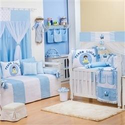 Quarto para Bebê Meu Bebê Nome Personalizado Azul