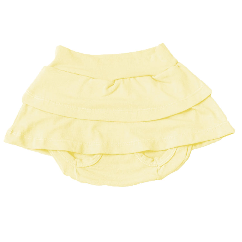 Short Saia Amarelo 6 a 9 Meses