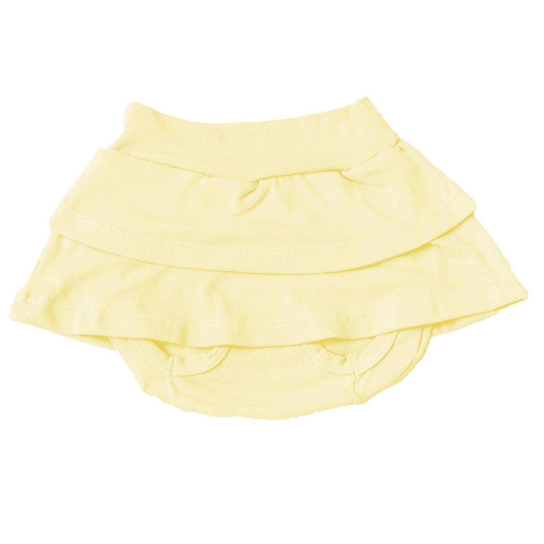Short Saia Amarelo 9 a 12 Meses