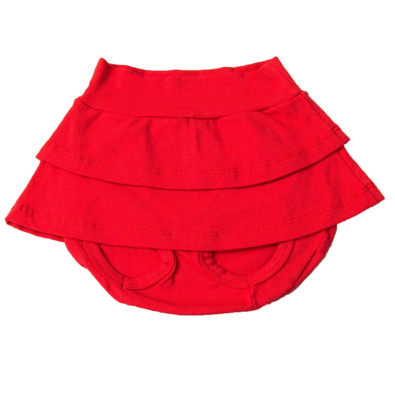 Short Saia Vermelho 3 a 6 Meses