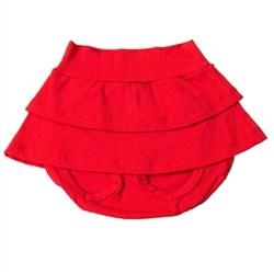 Short Saia Vermelho 12 a 15 Meses