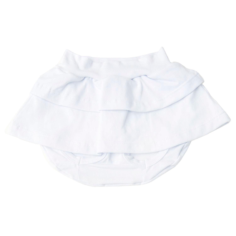 Short Saia Branco 12 a 15 Meses