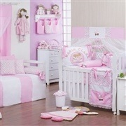 Quarto para Bebê Minha Bebê Nome Personalizado Rosa