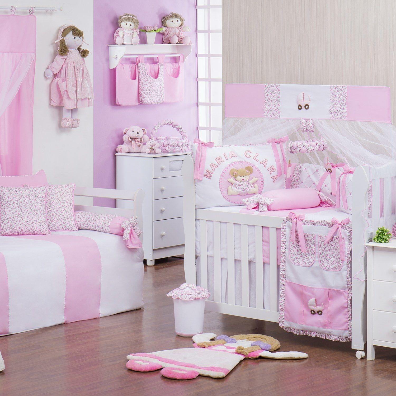 0c90de6bea781 Quarto para Bebê Minha Bebê Nome Personalizado Rosa   Grão de Gente