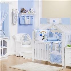 Quarto para Bebê sem Cama Babá Passarinhos Azuis