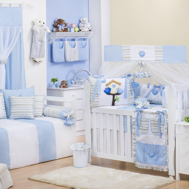 Quarto para Bebê Passarinhos Azuis