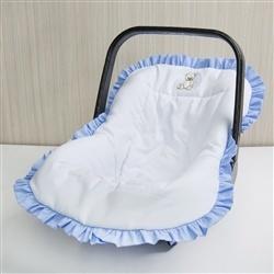Capa de Bebê Conforto Teddy Azul