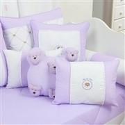 Almofadas Decorativas Teddy Lilás