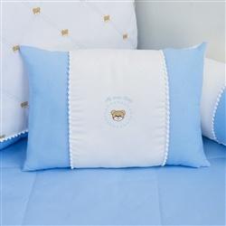Almofada Retangular Teddy Azul