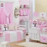 Quarto para Bebê Passarinhos Rosa