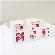 Kit Higiene Completo Camponesa Vermelho