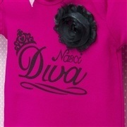 Body Manga Curta Nasci Diva Pink 12 a 15 meses