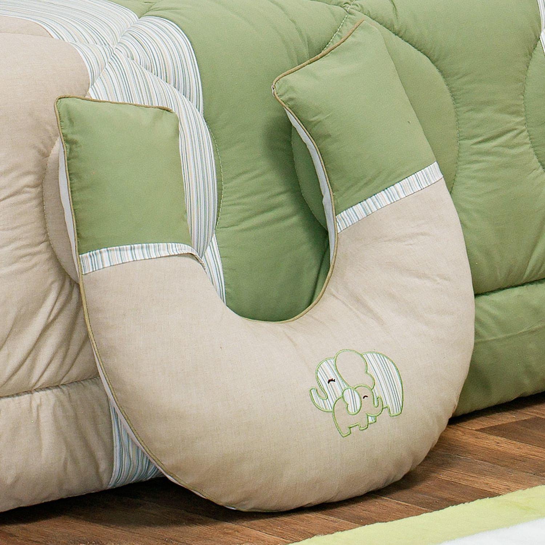 Almofada para Amamentação Elefantinho Verde