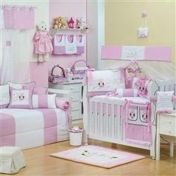 Quarto para Bebê Corujinha Rosa