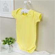Body Manga Curta Basic Liso Amarelo 12 a 15 meses