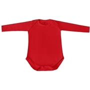 Body Manga Longa Basic Liso Vermelho 12 a 15 meses