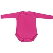 Body Manga Longa Basic Liso Pink Recém-Nascido a 3 Meses