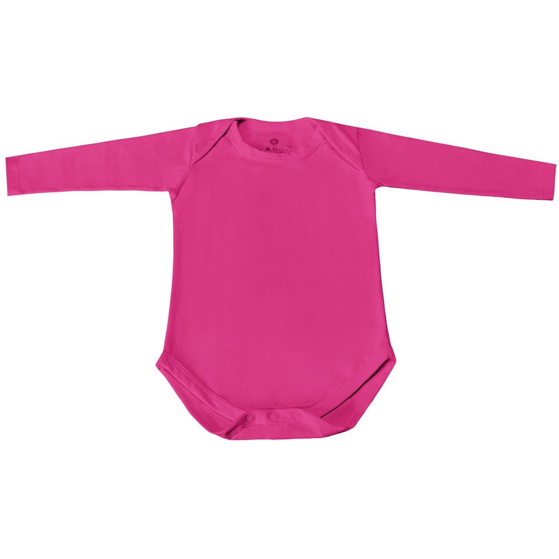 Body Manga Longa Basic Liso Pink 12 a 15 meses