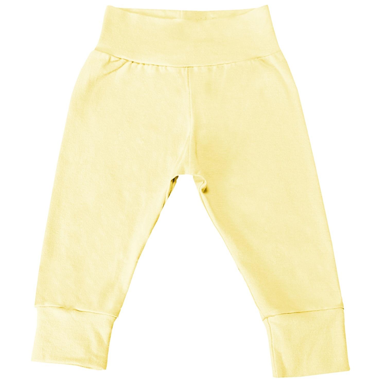 Mijão com Cós Alto e Pé Reversível Amarelo 6 a 9 Meses
