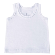 Camiseta Regata Branco Recém-Nascido a 3 Meses