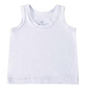 Camiseta Regata Branco 6 a 9 Meses